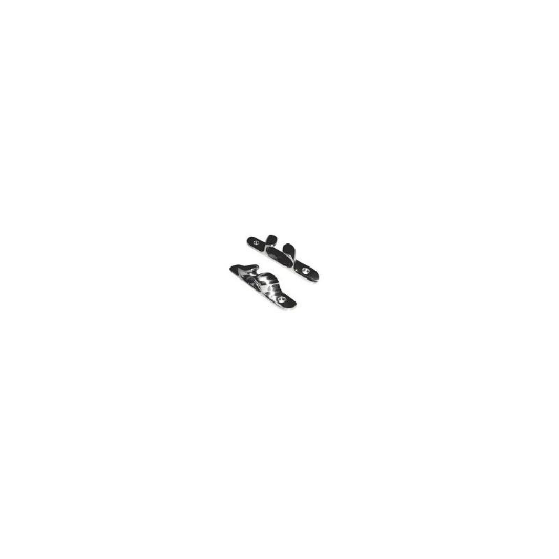 Escovens/Castanhas em latão cromado  100 mm  par