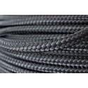 Linha gacheta de nylon preta de 8 m/m