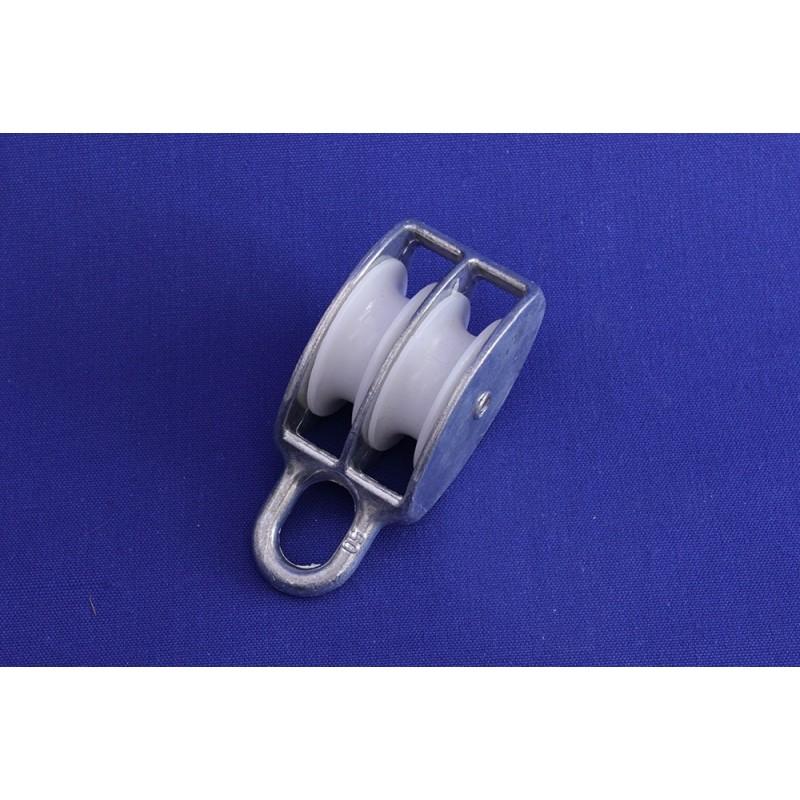 Cadernal zincado roda nylon 30 m/m